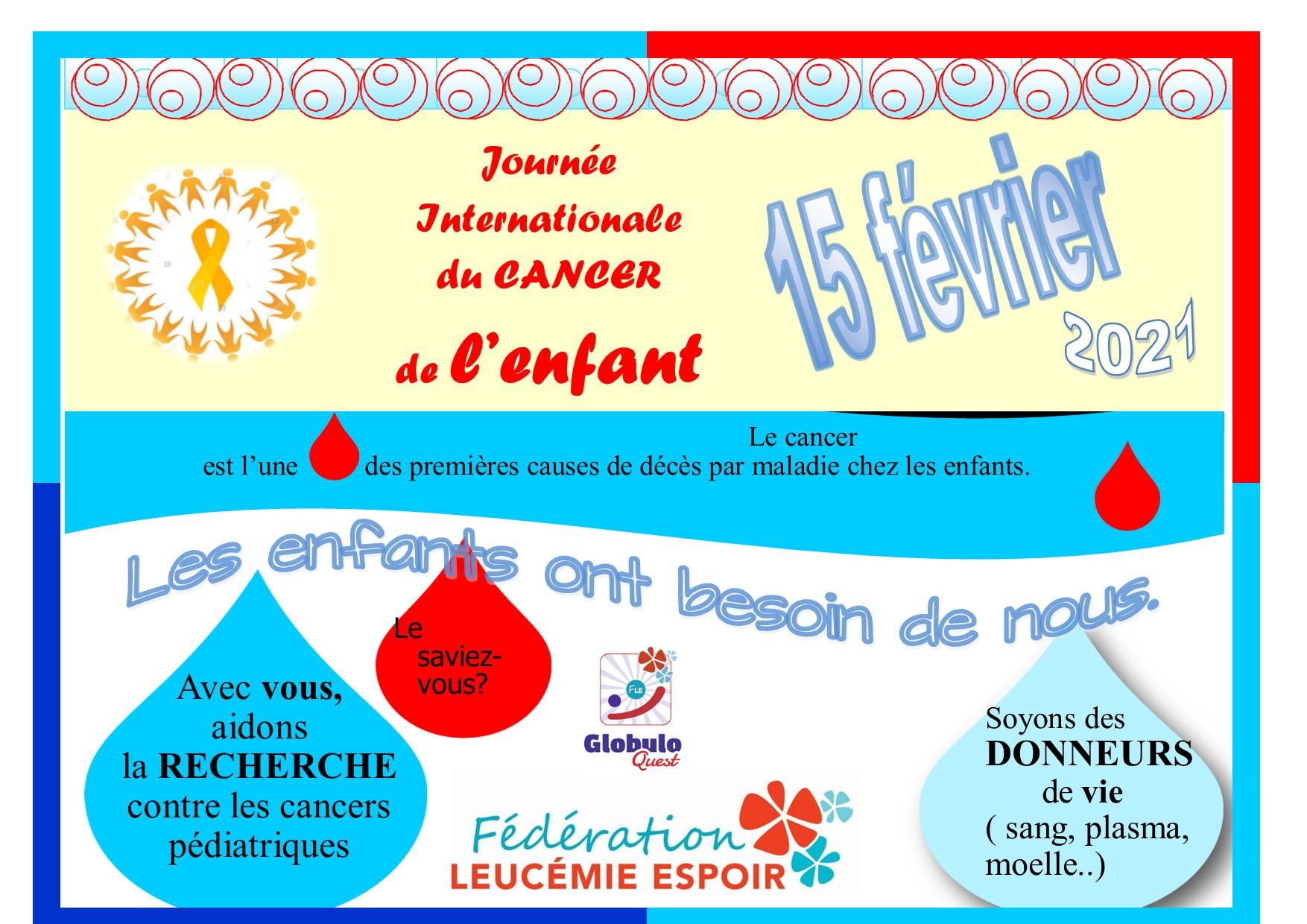 JOURNEE INTERNATIONALE DU CANCER DE L'ENFANT