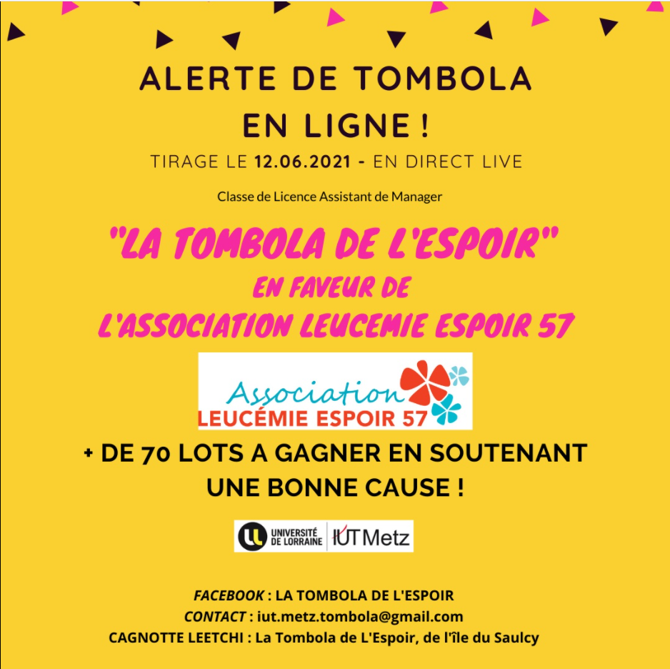 LA TOMBOLA DE L'ESPOIR